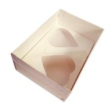 Caixa para CORAÇÃO de Colher 2x200gr 22x15,5x9 Tampa PVC Com 10