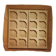 Caixa para Transporte de 16 Cupcake Padrão 35x35x10 Com 10