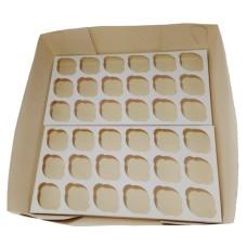 Caixa para Transporte de 36 Mini Cupcake 35x35x10 Com 10
