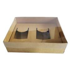 Caixa para 02 Caneca 30x22x9 KRAFT Tampa PVC Com 10