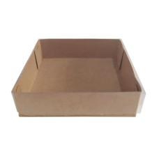 Caixa para Ovo Frito BWB 11x11x3 KRAFT Tampa PVC C/10