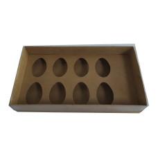 Caixa para Ovo de Colher 8x50gr 27x15x5 Com 10