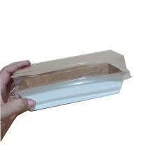 Forma para Bolo Caseirinho Forneavel Branco C/Tampa 300gr Com 10