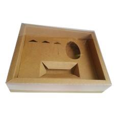 Caixa Mini Confeiteiro 100gr ou 150gr Moldura 28,4X23,2X6,5 Com 05