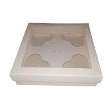 Caixa para CORAÇÃO de Colher 4x80gr 15,5x15,5x4 Com 10