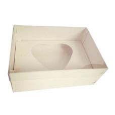 Caixa para CORAÇÃO de Colher 1Kg 30x22x9 Tampa PVC Com 05