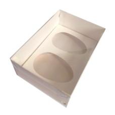 Caixa para Ovo de Colher 2x250gr 22x15,5x9 Tampa PVC Com 10