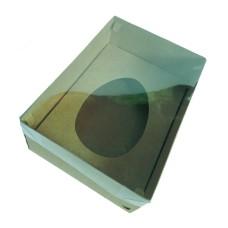 Caixa para Ovo de Colher 500gr 22x15,5x9 Tampa PVC Com 10