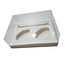 Caixa para Ovo de Colher 2x100/150gr e Doces 24x18,5x9 BRANCO Corpo PVC C/10