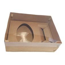 Caixa para Ovo de Colher 500gr e Lata 30x22x9 Tampa PVC Com 10