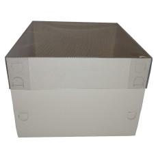 Caixa para Bolo 20x20x15 BRANCO Tampa PVC Com 10