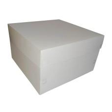 Caixa de Papel para Bolo 25x25x15 BRANCO Com 50
