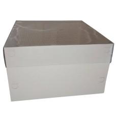 Caixa para Bolo BRANCO Tampa PVC 25x25x15 Com 50