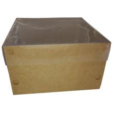 Caixa para Bolo Tampa PVC 25x25x15 Com 50