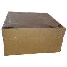 Caixa para Bolo KRAFT Tampa PVC 30x30x15 Com 50