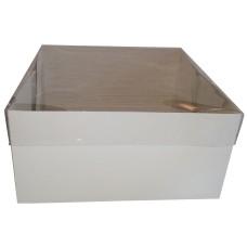 Caixa para Bolo 30x30x15 BRANCO Tampa PVC Com 10