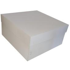 Caixa para Bolo Corpo e Tampa de Papel 30x30x15 BRANCO Com 50