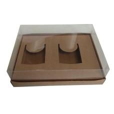 Caixa para 02 Caneca 30x22x9 KRAFT Corpo PVC Com 10