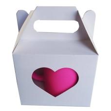 Caixa para caneca 11,5x8,3x10 Sublimável Vazado Coração Com 36