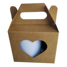 Caixa para caneca 11,5x8,3x10 KRAFT Vazado Coração Com 50