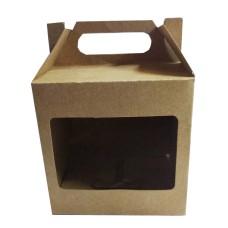 Caixa para caneca 11x9,5x11 KRAFT Alça Trapézio - C/50