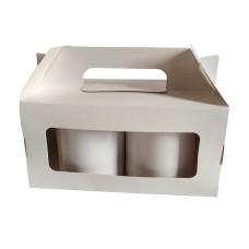 Caixa para 02 caneca Maleta BRANCO 20x10x10 C/10