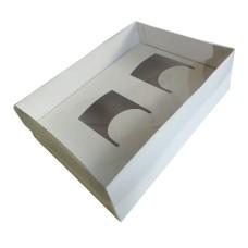 Caixa para 02 Caneca 30x22x9 BRANCA Tampa PVC Com 10