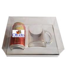 Caixa para Lata e Caneca 22x15,5x9 BRANCO Corpo PVC Com 10