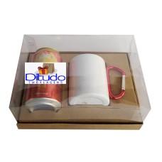 Caixa para Lata e Caneca 22x15,5x9 KRAFT Corpo PVC Com 10