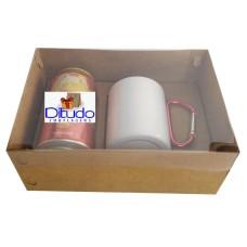 Caixa para Lata e Caneca 22x15,5x9 KRAFT Tampa PVC Com 10