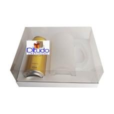 Caixa para Latão e Caneca de Chop 24x18,5x9 BRANCO Corpo PVC Com 10