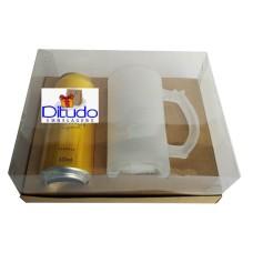 Caixa para Latão e Caneca de Chop 24x18,5x9 KRAFT Corpo PVC Com 10