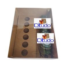 Caixa para Garrafa e Doces 24x18,5x9 KRAFT Tampa PVC Com 10