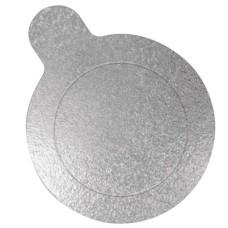 Base para Doce Redonda Prata 8cm Ultrafest Com 20