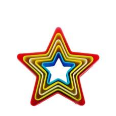 Jogo de Cortadores Estrelas em Plástico Kehome Com 05