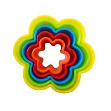 Jogo de Cortadores Flor em Plástico Kehome Com 05