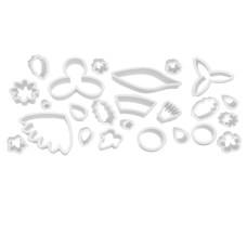 Jogo de Cortadores Flores e Folhas Mago Com 24