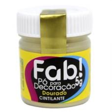 Pó para decoração metálico 5g FAB