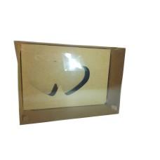 Caixa para CORAÇÃO de Colher Apaixonado 22x15,5x9 KRAFT Tampa PVC Com 10