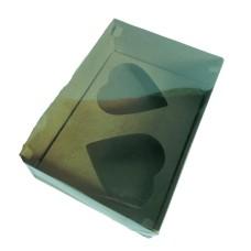 Caixa para CORAÇÃO de Colher 2x200gr 22x15,5x9 KRAFT Tampa PVC Com 10