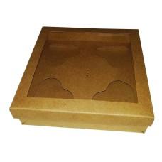 Caixa para CORAÇÃO de Colher 4x80gr 15,5x15,5x4 KRAFT Com 10