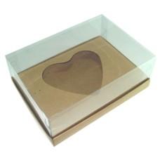 Caixa para CORAÇÃO de Colher 500gr 22x15,5x9 KRAFT Corpo PVC Com 10