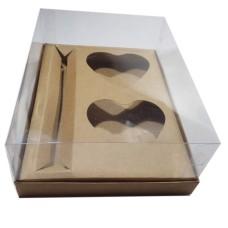 Caixa para CORAÇÃO de Colher 2x200gr e Doces 24x18,5x9 KRAFT Corpo PVC C/10