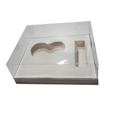 Caixa para CORAÇÃO de Colher 500gr e Doces 24x18,5x9 BRANCO Corpo PVC Com 10