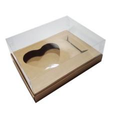 Caixa para CORAÇÃO de Colher 500gr e Doces 24x18,5x9 KRAFT Corpo PVC Com 10