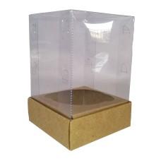 Caixa para Cupcake Alto 8x8x12 KRAFT Corpo PVC Com 10