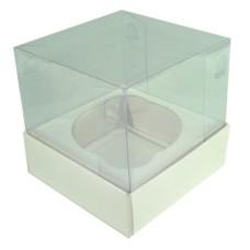 Caixa para Cup Cake Padrão 8x8x8 BRANCO Corpo PVC Com 10