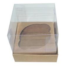 Caixa para Mini Cup Cake 6x6x6 KRAFT Corpo PVC Com 10