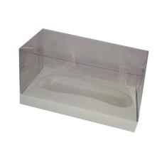 Caixa para Chuteira de Chocolate 21x9,6x11,5 BRANCO Corpo PVC Com 10