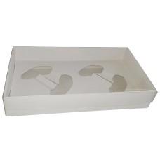 Caixa para Joystick Duplo 27x15x5 BWB 9661 BRANCO Tampa PVC Com 10